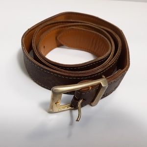 LOUIS VUITTON Monogram Canvas Vintage Belt Size 8